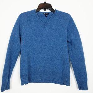 100% wool J. crew Cozy blue sweater   size L